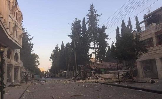 بالصور و الفيديو  : انفجار اسطوانة غاز في مطعم بعمان