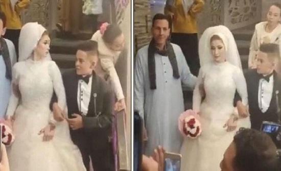 شاهد.. مصر:  فيديو لحفل زفاف أصغر عريس يثير ضجة