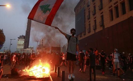 الصليب الأحمر اللبناني: سقوط 84 جريحا في مظاهرات بيروت