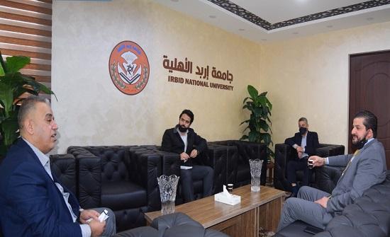 جامعة إربد الأهلية تستقبل الدكتور ثابت النابلسي