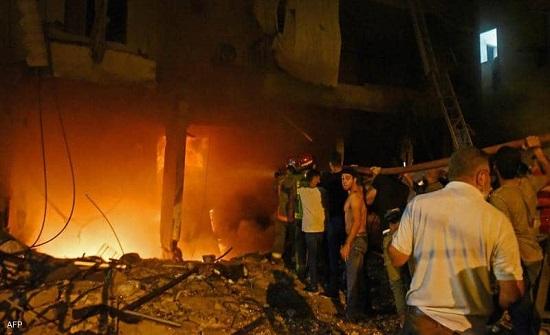 4 قتلى بانفجار خزان مازوت في بيروت