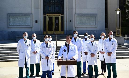 طبيب ترمب: صحة الرئيس جيدة جدا ويتنفس بشكل طبيعي