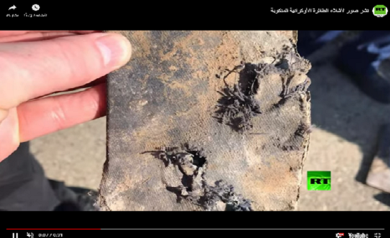 فيديو لأشلاء الطائرة الأوكرانية المنكوبة