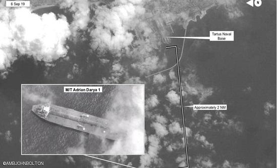 """بصورة فضائية.. واشنطن تؤكد """"وجهة"""" الناقلة الإيرانية"""