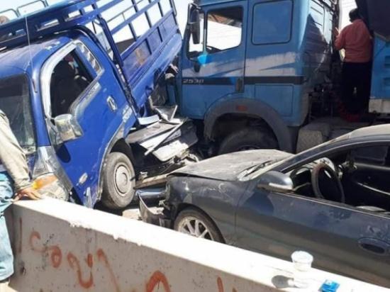 بالصور  : حادث سير مروع على الطريق الصحراوي