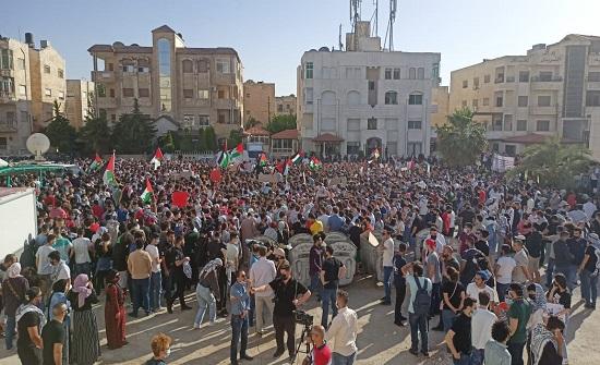 صور من محيط السفارة الاسرائيلية بعمان .. وقفة احتجاجية تضامنا مع الاقصى