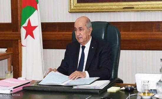 الرئاسة الجزائرية تعلن إصابة تبون بفيروس كورونا