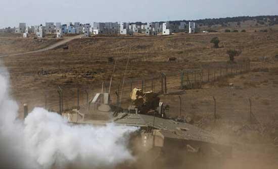 الاحتلال يعلن تدمير نقطة مراقبة للجيش السوري في الجولان .. بالفيديو