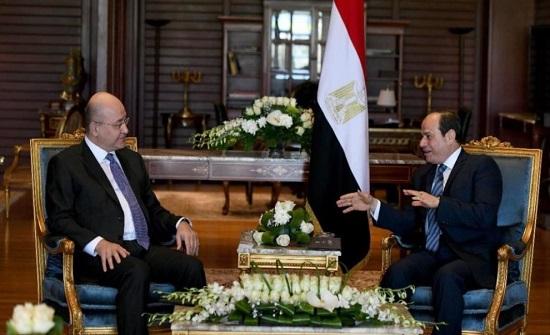 الرئيس المصري ونظيره العراقي يبحثان تطور الاوضاع في سوريا
