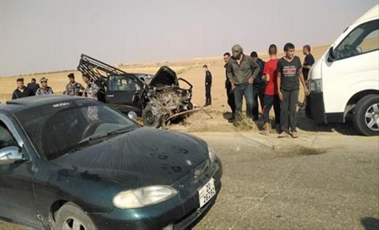 بالصور : وفاتان واصابة بحادث سير مروع في الكرك