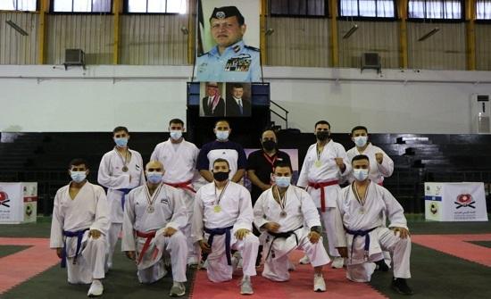 فريق كراتيه الأمن العام يحصد 7 ميداليات ببطولة المملكة