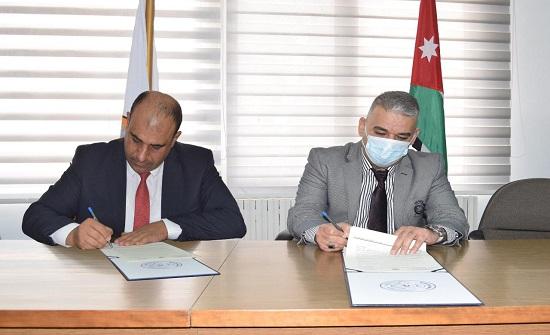 جامعة إربد الأهلية توقع مذكرة تعاون مشترك مع النقابة العامة لأصحاب المهن الميكانيكية