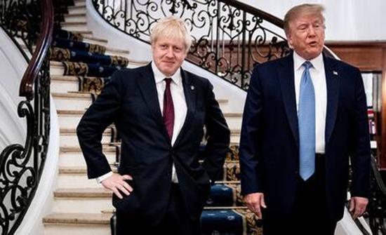 جونسون يناشد ترامب عدم التدخل في انتخابات بريطانيا
