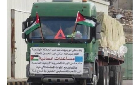 العبادي: 22 قافلة مساعدات سُيرت لفلسطين في 2021