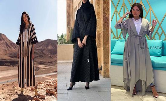 أجمل عبايات بموديل المعطف موضة شتاء 2020