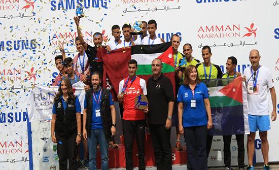 فريق الدرك يحصد الذهب في ماراثون عمان الدولي