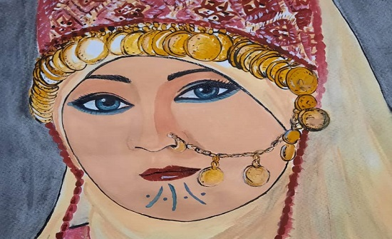 الفنّانة حكيمة توكّلي ترسم سناء الشّعلان في معرض فنّيّ كامل