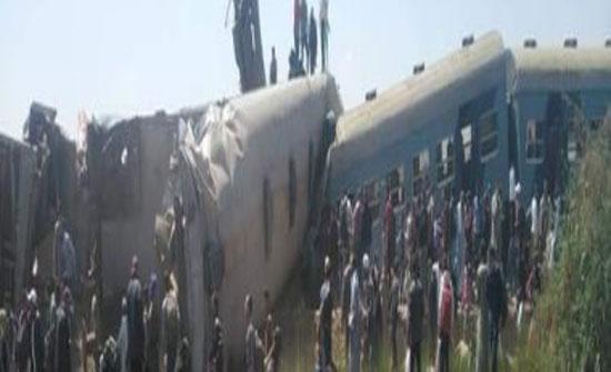 الصحة المصرية : مصرع 32 مواطناً وإصابة 66 آخرين فى حادث قطارى سوهاج