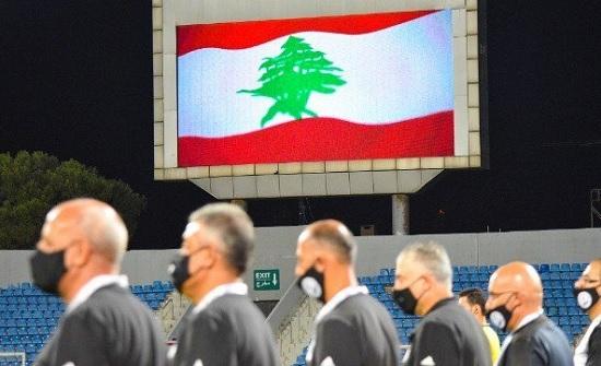 بالصور: تضامن كروي أردني قطري مع لبنان