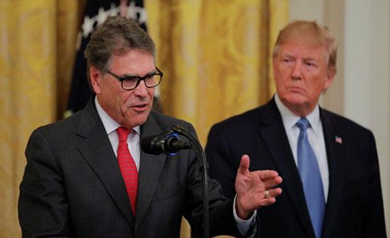 وزير الطاقة الأمريكي يبلغ ترامب بتقديم استقالته قريبا