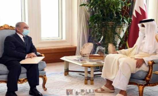 اشتية يبحث مع أمير قطر اخر التطورات السياسية