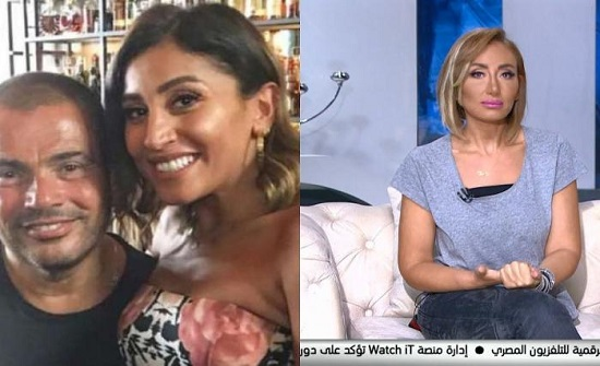 تعليق ريهام سعيد على علاقة عمرو دياب ودينا الشربيني