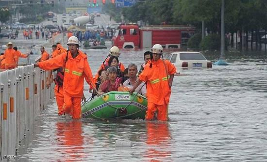 فيضانات شديدة القسوة تضرب الصين