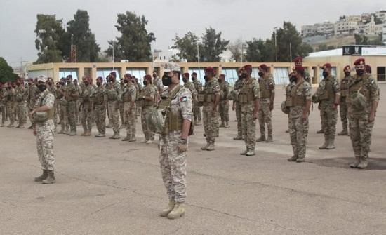 القوة الأردنية المشاركة في تمرين سيف العرب تغادر إلى مصر