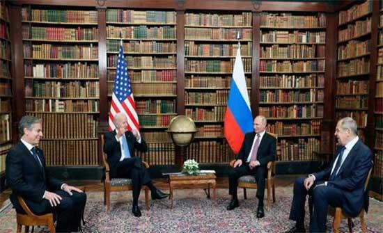 انتهاء جولة محادثات على نطاق ضيق بين بوتين وبايدن في جنيف