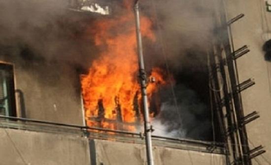 وفاة طفلين وإصابة أربعة أشخاص اثر حريق شقة بعمان