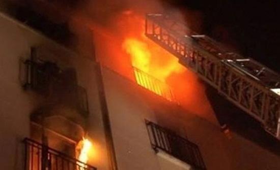 إصابة ثلاثة اشخاص إثر حريق شقة في عمان