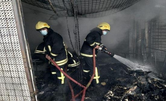 اخلاء 14 شخصا إثر حريق شقة في العقبة