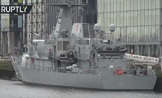 فيديو:سفينة تابعة لسلاح البحرية الإيرلندية تتحول إلى مركز تحاليل لفيروس كورونا
