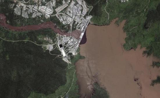 صور مريبة تظهر مياه خزان سد النهضة ترتفع.. ماذا يجري؟