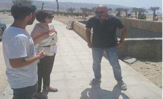وزيرة السياحة تتفقد سير العمل بمشروع كورنيش البحر الميت
