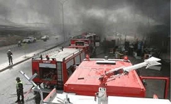 إخماد حريق في عمان