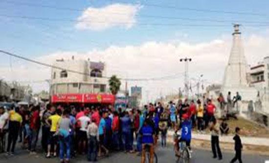 """احتجاجات لـ""""بحارة"""" الرمثا"""