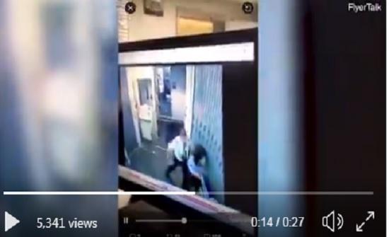 ضربته ثم لكمها في بطنها.. معركة عنيفة بين طيار ومضيفة على الطائرة (فيديو)