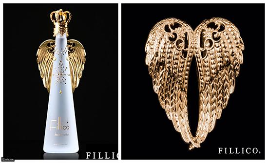 صور : زجاجة مياه  بـ185 دولار لانها مطلية بالذهب