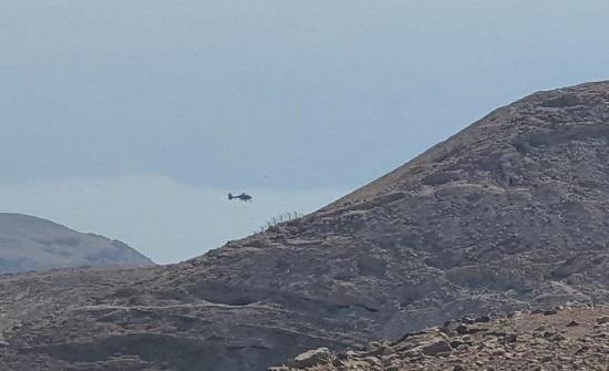 بالصور : طائرة تبحث عن مواطن مفقود في مادبا