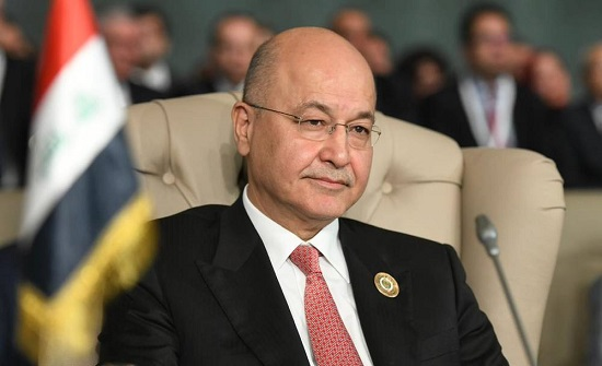 """الرئيس العراقي: تكرار استهداف منشآت أربيل """"جرائم إرهابية"""""""