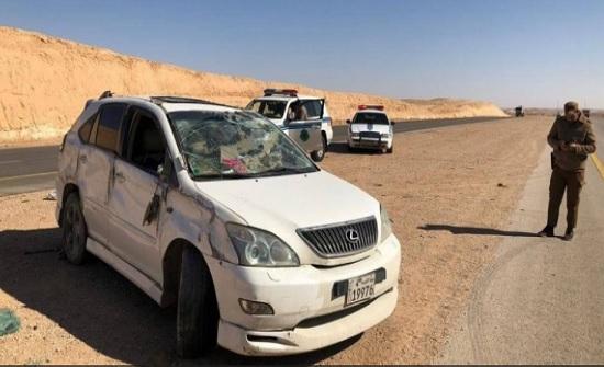إصابة اردني و زوجته اثر حادث تدهور في السعودية