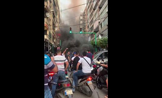أنصار رئيس الوزراء اللبناني المستقيل يقفلون عددا من الطرقات في بيروت