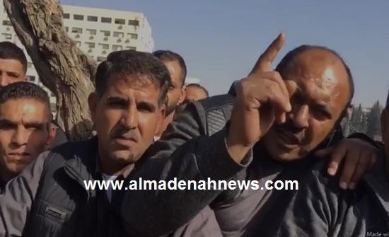بالفيديو: اعتصام موظفي الفئة الثالثة بوزارة التربية
