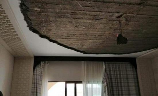 سقوط أجزاء من قصارة بثلاث غرف صفية بمدرسة سما السرحان