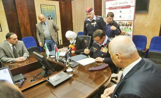 توقيع مذكرة تفاهم بين  الأمن العام وجامعة البتراء