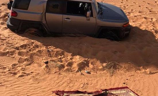 بالصور: العثور على 4 شبان فُقدوا منذ أربعة أيام في السعودية