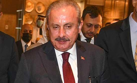 رئيس البرلمان التركي: العالم بدأ يدرك عدالة الحقوق الفلسطينية