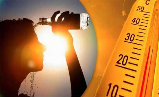 الاحد : ارتفاع شديد على الحرارة