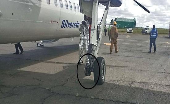 طائرة تُجبر على الهبوط بعد سقوط أحد إطاراتها!